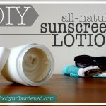DIY(. all-natural sunscreen lotion