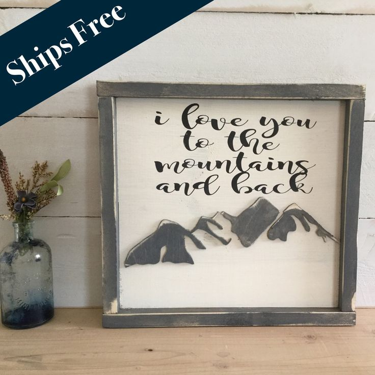 Darling hand cut mountains!!  A personal favorite from my Etsy shop https://www.etsy.com/listing/281597336/i-love-you-to-the-mountains-and-back
