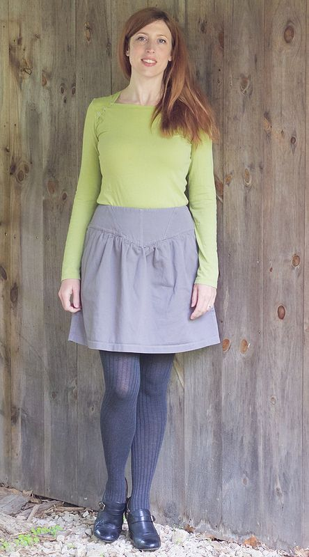 Grey Crescent Skirt