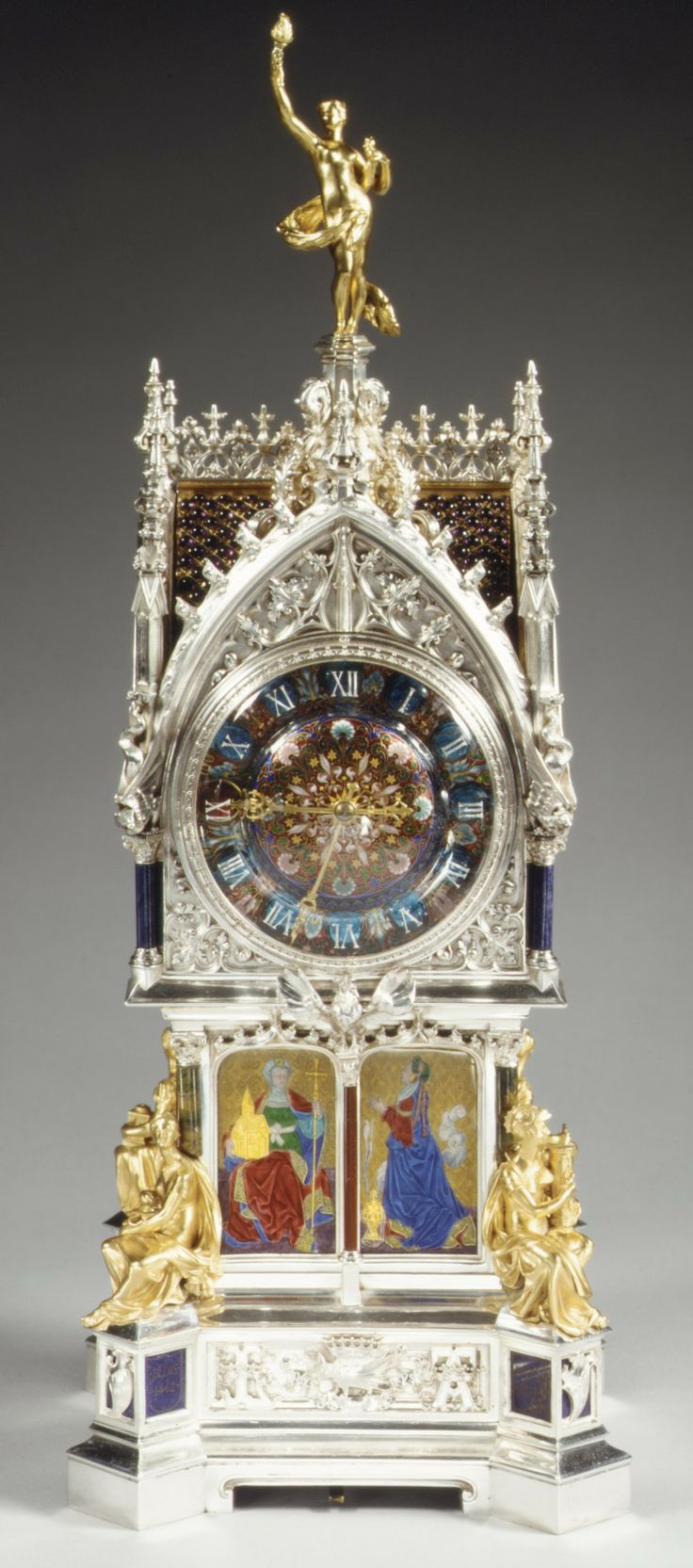 Clock Designer of case and enamel: Lucien Falize (French, Paris 1839–1897 Paris)