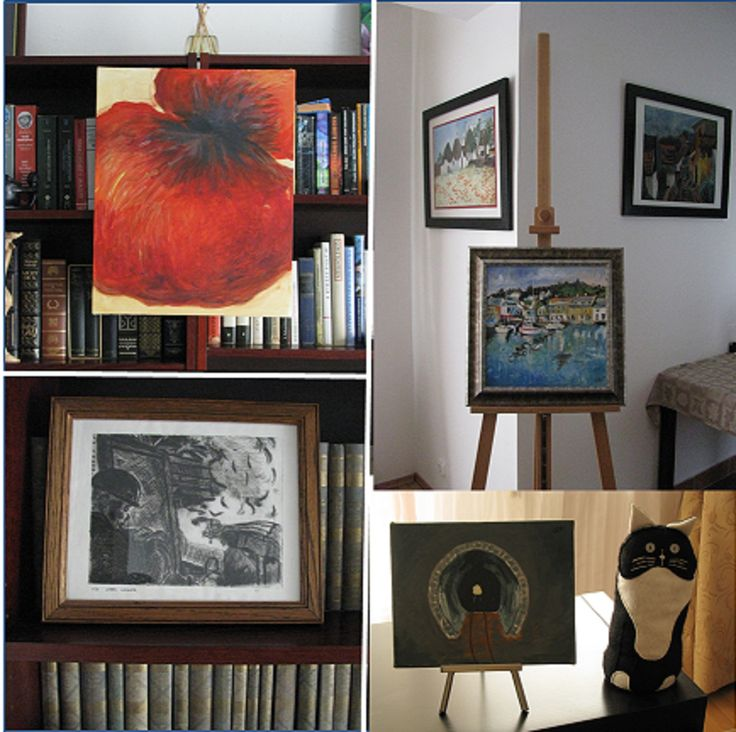 Creative ways of displaying art at home. http://wp.me/p6vSuT-aa