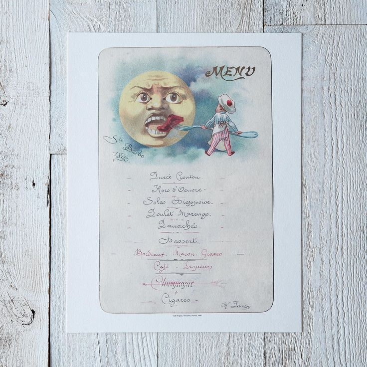 Vintage Menu Print: Café Anglais on Food52