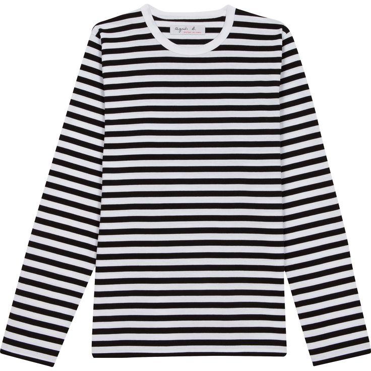 T-shirt rayé noir blanc