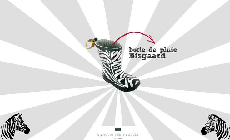#botte #pluie #bisgaard #zèbre #zebra #animal #black #enfant #chaussure #rain #kid #children #mode #fashion