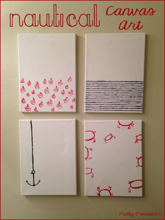 DIY Nautical canvas art, I promise you, if I can do these you can do them! So easy and so fun!