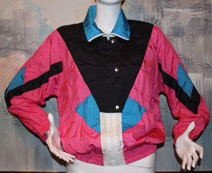Vintage 1980's Westside Connection Jacket Multicolor Windbreaker Size S