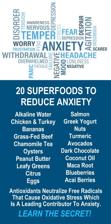20 Superfoods Reduce Anxiety