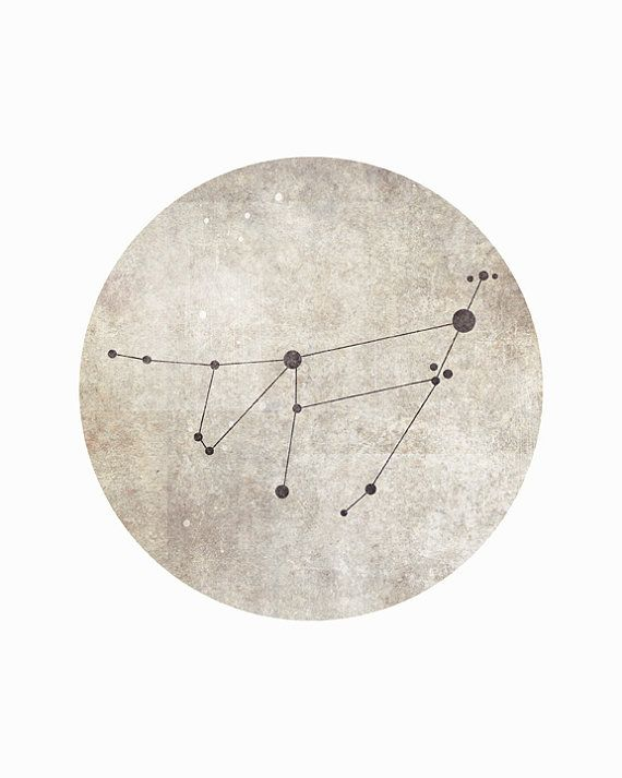 Capricorn Constellation Capricorn Art by blackandthemoon on Etsy