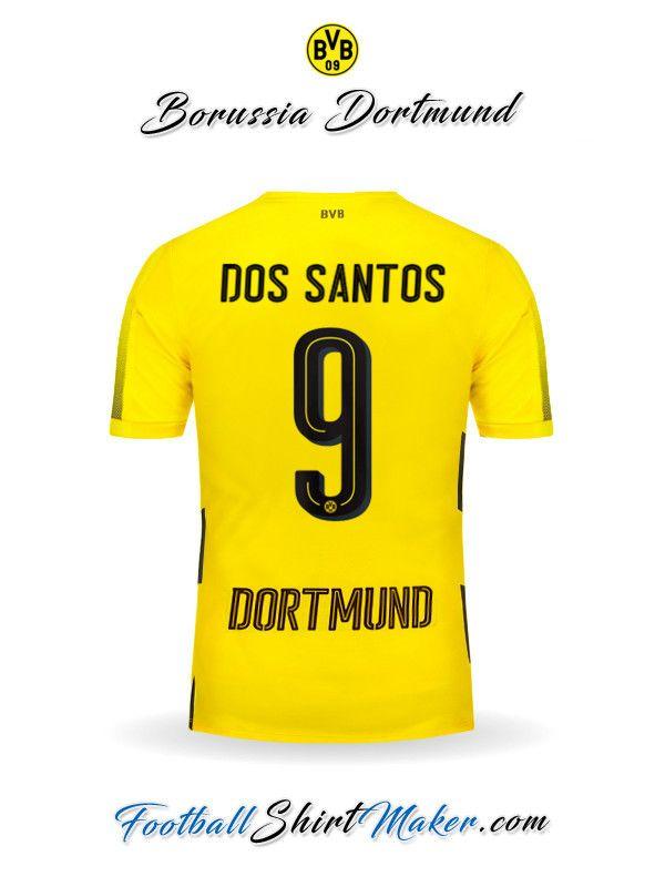 Camiseta Borussia Dortmund 2017/2018 Dos santos 9
