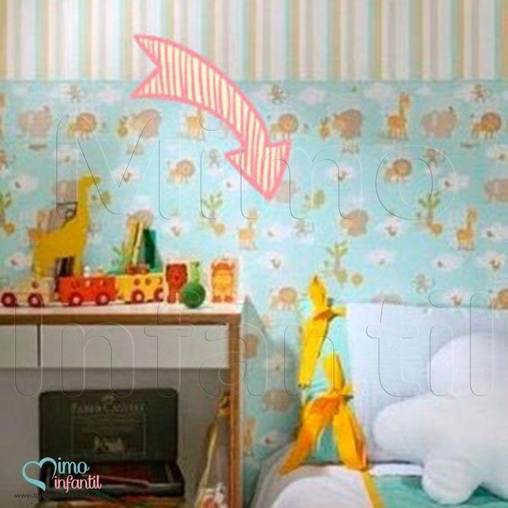 Papel de Paredes para decoração de quarto de bebê e infantil Bobinex Bambinos 3300, REF3300, safari, animais, leão, elefante, macaco, girafa, hipopótamo,passarinho, azul | SP, BH, MG, RJ, DF