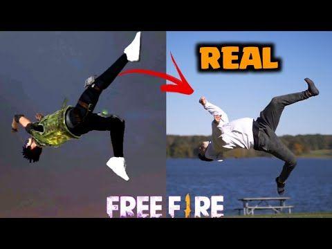 Origen De Los Emotes Y Bailes De Free Fire Bailes De Free Fire En La Vida Real Parte 2 Youtube Intro Free Fortnite