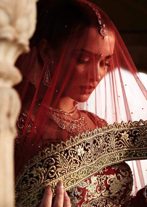 Indian Bride | Gold & Red Dress | Beautiful Picture