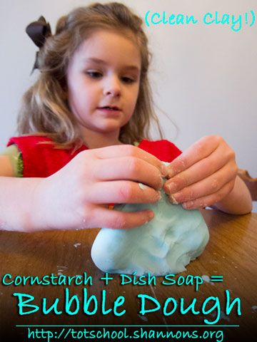 Dish Soap + Corn Starch = Super Fun Bubble Dough  - Pinned by @PediaStaff – Please Visit  ht.ly/63sNt for all our pediatric therapy pins