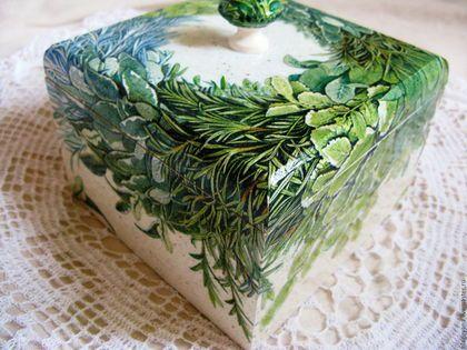 The kitchen is handmade. Fair Masters - handmade. Buy Box of birch Provençal bouquet. Handmade. Green