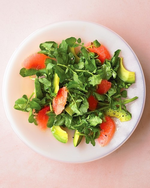 Grapefruit and Watercress Salad - Bittersweet grapefruit and buttery ...