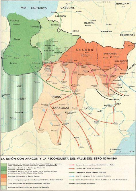 La unión de Navarra con Aragón y la reconquista del Valle del Ebro (1076-1134)
