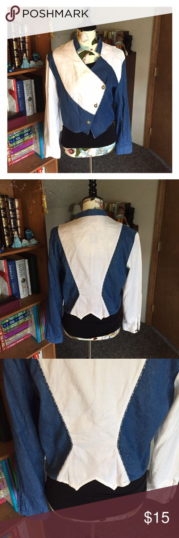 💠New Listing💠 Ozark Mountain-Western Style Shirt 🌸EUC! Very fun asymmetrical western style top. Has military style buttons on the front. Could easily be worn as a jacket.🌸💸Free Shipping on bundles with three or more items. After you bundle your three items, make an offer with $6 off the discounted bundled price.💸 Ozark Mountain Tops Button Down Shirts