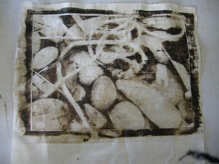Paper Lithography/Gum Arabic Transfers,  Also known as paper lithography or xerox lithography is a quick way to make prints. Your paper photocopy actually becomes your plate when the gum arabic interacts with the toner and raises it slightly off the paper.