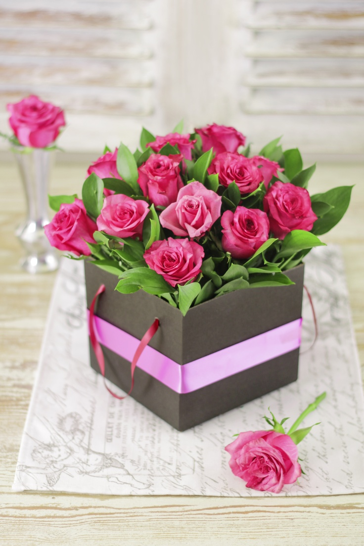 Roses in a box? Who would've thought?