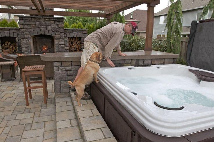 Backyard Hot Tub Ideas  Love this!!  DIY home decor  Pinterest