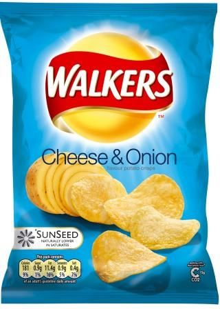 Walker's Crisps, the British Lays. I like the Cheese and Onion flavor, and the others they have for which there aren't American counterparts.