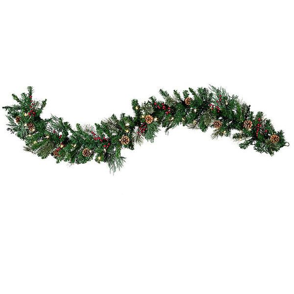 Pre-Lit Classic Lighted Christmas Garland-6' (1 445 UAH) ❤ liked on Polyvore featuring home, home decor, holiday decorations, christmas holiday decor, battery operated lighted wreath, pre lit christmas wreaths, artificial holiday wreaths и battery operated wreath