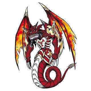 Megidramon - Mega level Evil Dragon digimon; one of the 'Four Great Dragons'