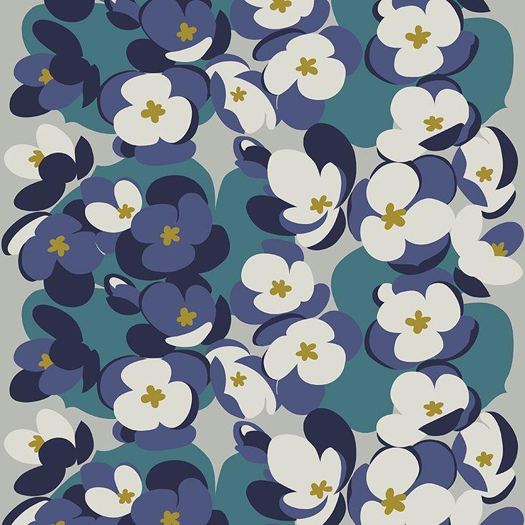 Sinivuokko Blue // Metsovaara Premium Print collection from Materialised www.materialised.com  #metsovaara #print #collection #premium #pattern #textile #fabric #interiordesign #materialised