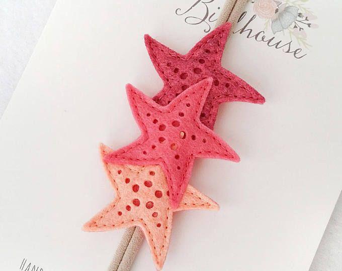 Shades of Coral, Felt Starfish Headband