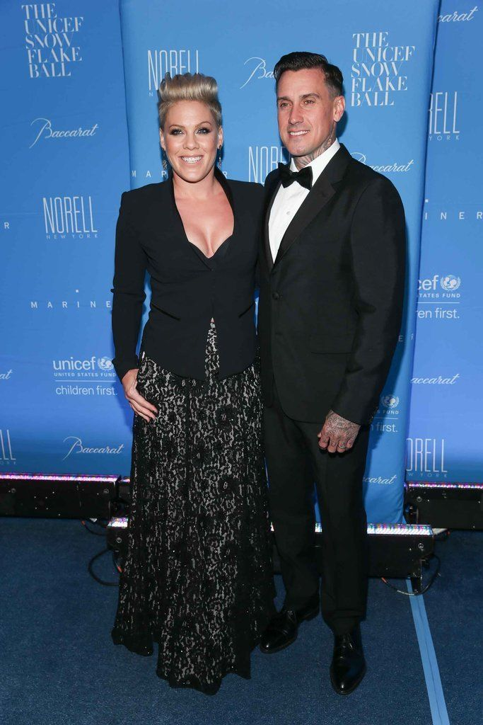 Pink and Carey Hart at UNICEF Snowflake Ball 2015 | POPSUGAR Celebrity