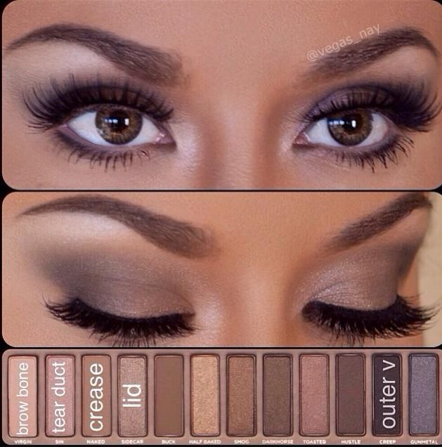I think this is my favorite brown/gray smokey eye. I use the Urban decay naked pallet all the time♥- S. Beal