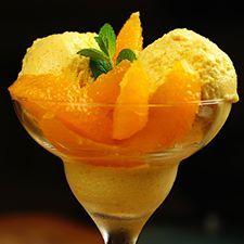 Домашнее апельсиновое мороженое.
