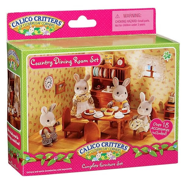 Calico Critters Country Dining Room Set (With images