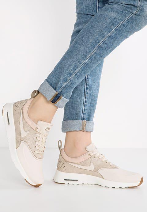 Nike Sportswear AIR MAX THEA PREMIUM - Trainers - oatmeal/sail/khaki/medium brown - Zalando.co.uk