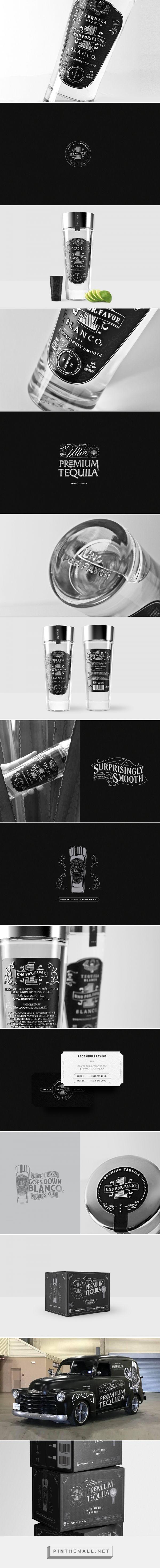 Tequila Uno Por Favor packaging design by Mayorque Studio - https://www.packagingoftheworld.com/2018/04/tequila-uno-por-favor.html