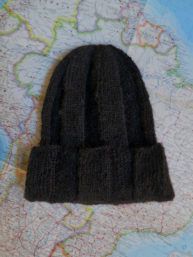 Handspun handknit alpaca hat