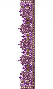 C Pallu  Saree Embroidery Design 13102