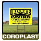10 in. x 14 in. Custom Coroplast Sign, Unlimited Colors