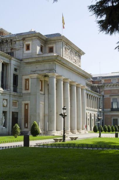 El Museo del Prado en Madrid, España es la casa de el arte de Tintoretto, Goya, y más.