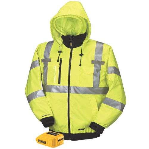 DCHJ070B 20V/12V MAX* Class III High-Vis 3-in-1 Heated Jacket (Jacket and Adaptor Only) | DEWALT Tools