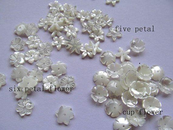 Сс раковина мать жемчуг florial цветы лепесток чаша белое cabochons бусины 10 мм 100 шт