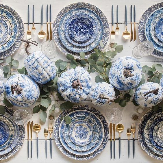 A Blue and White Thanksgiving