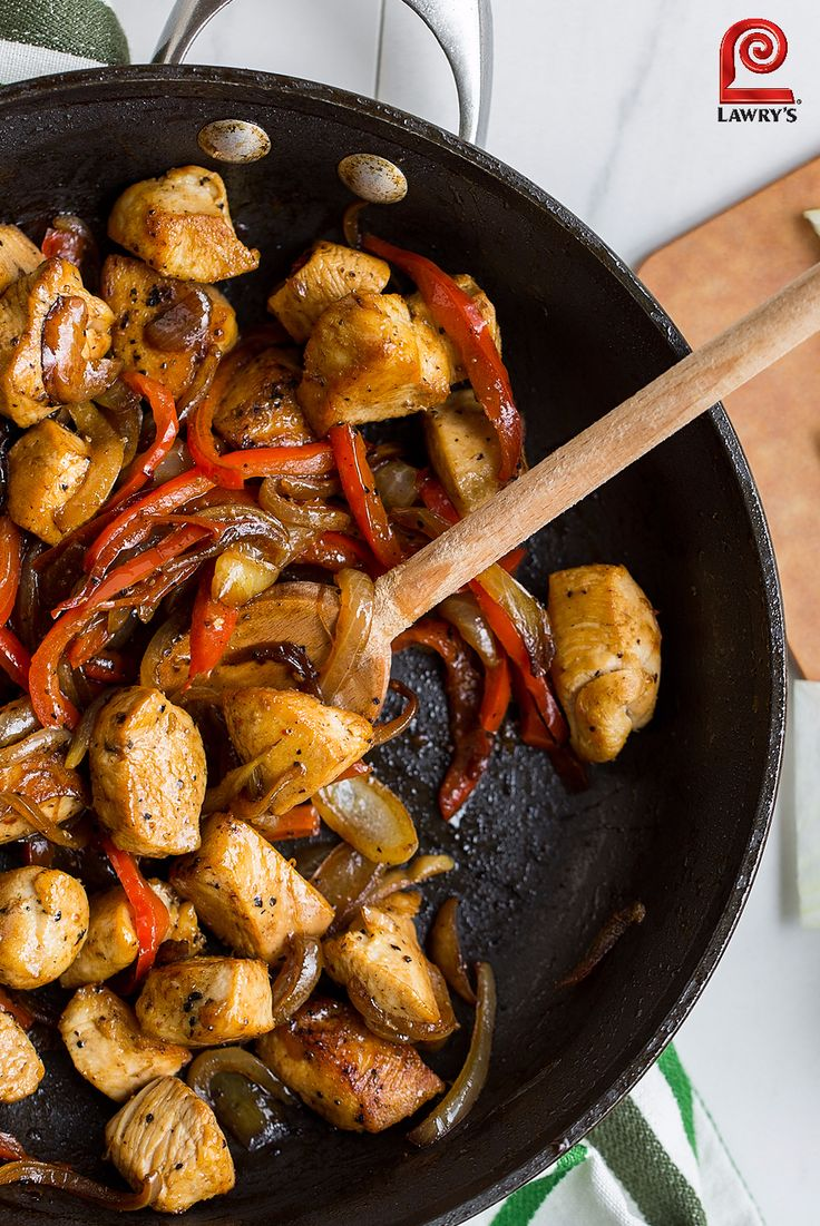 Looking for a new 30-minute meal? This one pan dinner features chicken sauteéd with bell peppers and Seasoned Salt for an easy weeknight dinner.