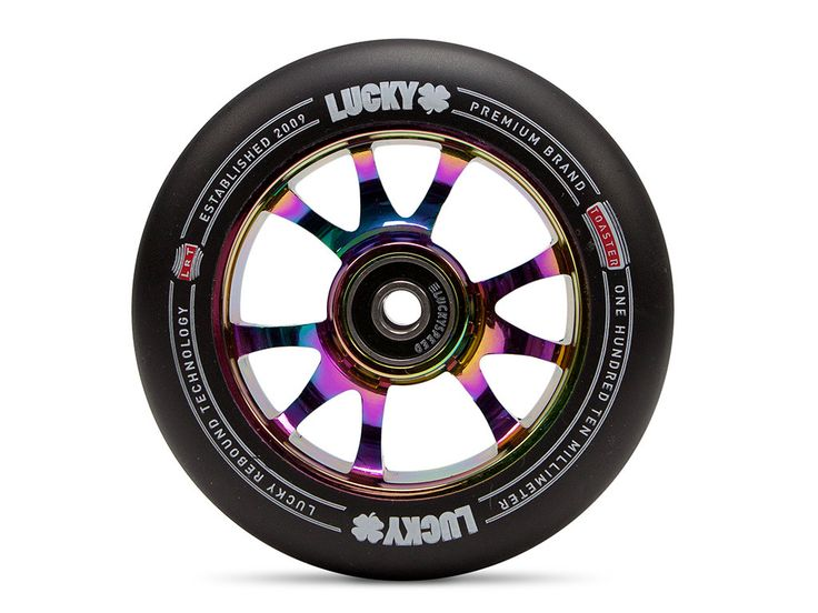 The TOASTER™ 110mm scooter wheel is a new design to the Lucky 110mm wheel lineup. Pick from 7 core colors and 2 urethane colors. All Lucky Toaster wheels feature Lucky Rebound Technology™ (LRT™), a co