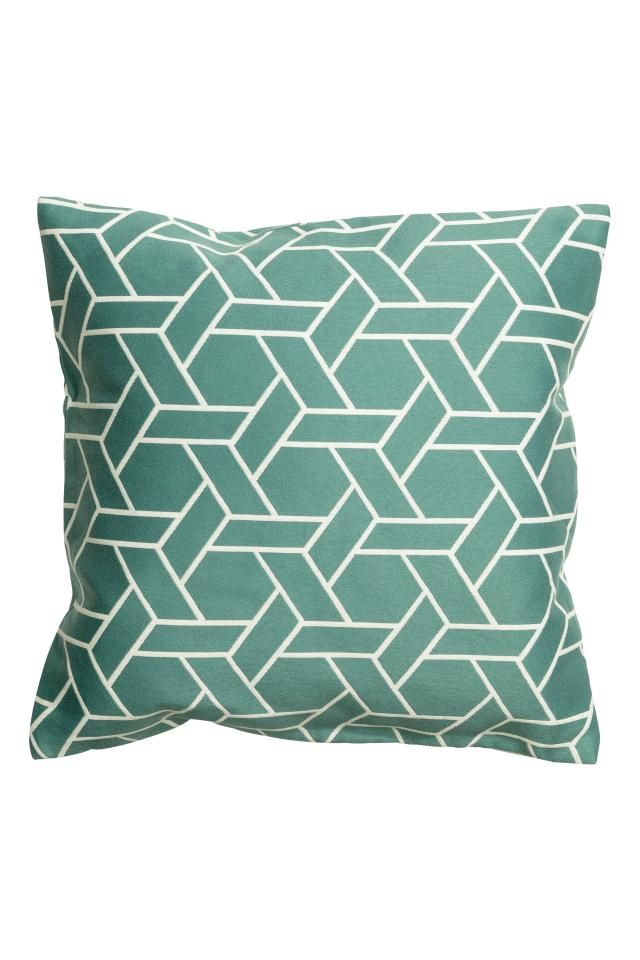 Jacquard-weave cushion cover: Jacquard-weave cushion cover with a concealed zip.