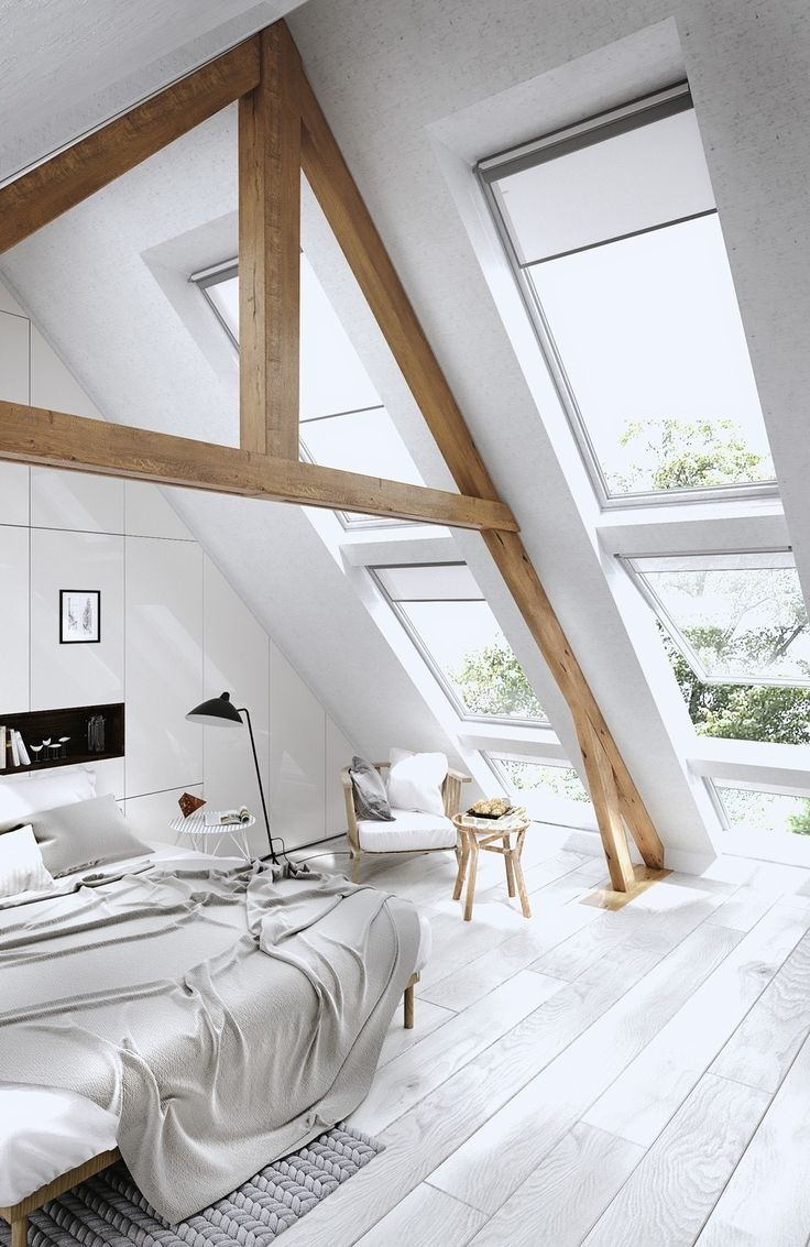 25 stunning, intricate, exiting attic bedrooms that will have you renovating your own! Many are simple and white while some have a bohemian style with art  clickwww.home-designing.com   - August 25