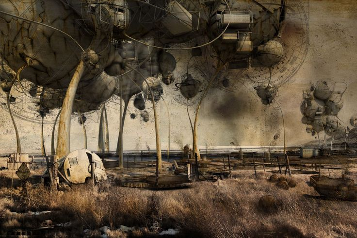 Winner of the 2012 KRob Architectural Delineation Competiton (Professional Digital/Mixed category) this fascinating piece imagines a future both fantastical and dystopic | Robert Gilson