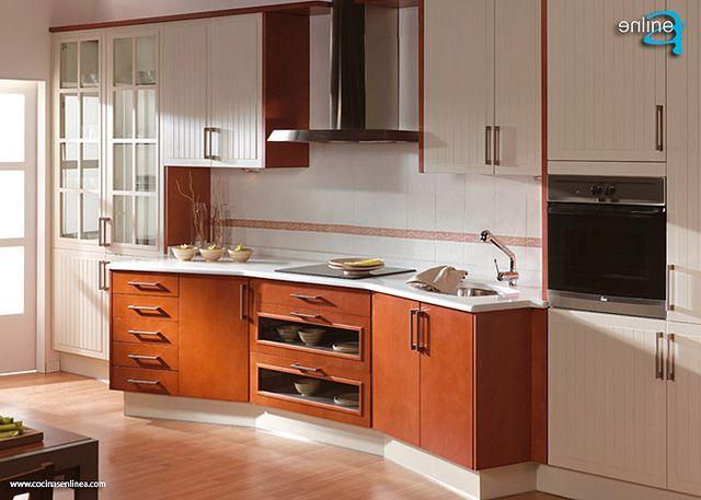 cocina con diseño curve como las TV de ahora