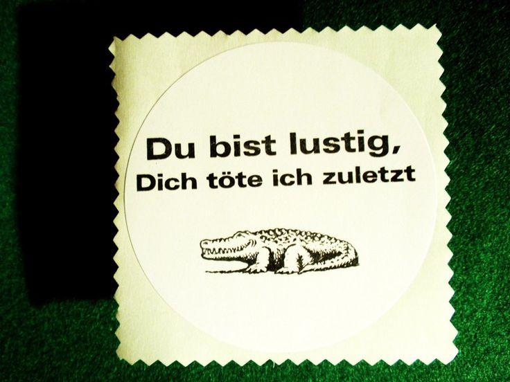 """3+bestempelte+Aufkleber+""""Krokodil+mit+Humor""""+von+Memoe+auf+DaWanda.com"""