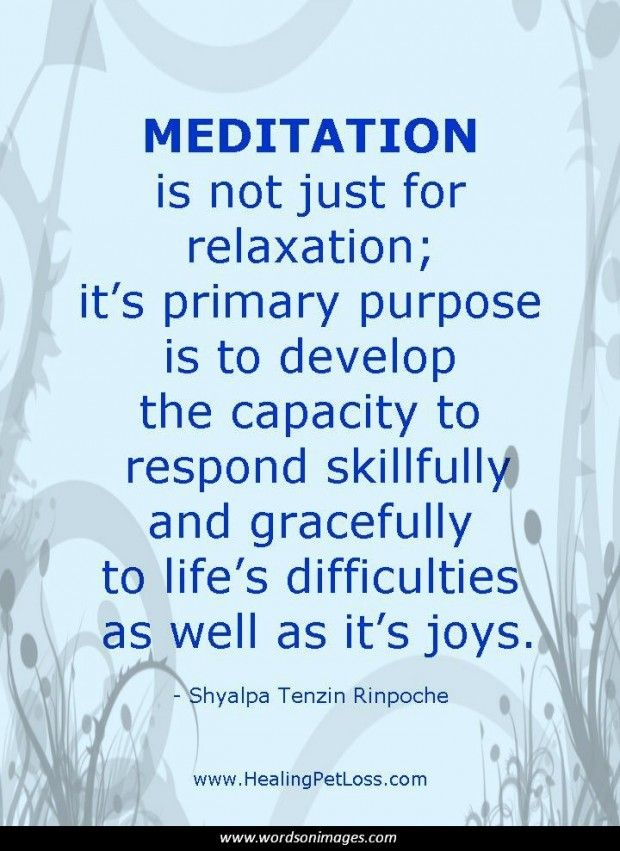 Meditation Quote Visit http://www.ReflectionWay.com